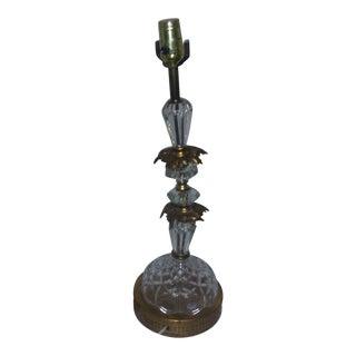 Italian Crystal Lamp For Sale