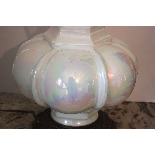 Mid-Century Opalescent Lamp - Image 3 of 4