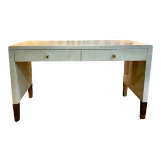 Made Goods Garlon Faux Horn & Brass Writing Desk For Sale