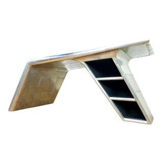 Industrial Restoration Hardware Wing Writing Desk For Sale