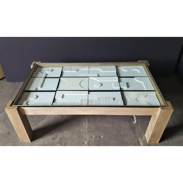 Modernist Frieze Cocktail Table by Paul Marra - a Pair For Sale - Image 9 of 10