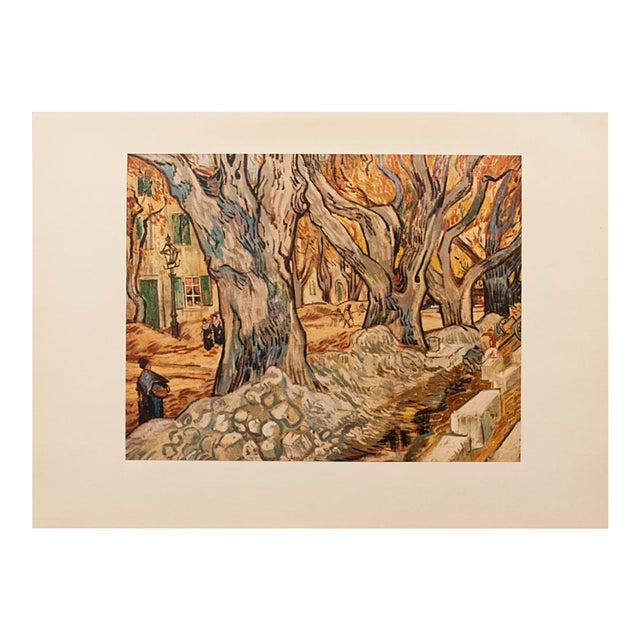"1950s Vintage ""The Road-Menders"" Van Gogh, First Edition Lithograph For Sale"