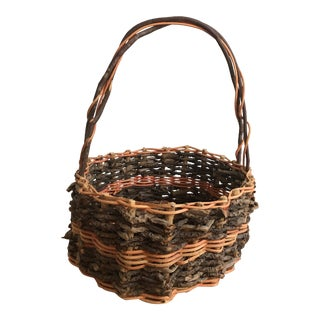 Early 20th Century Antique French Gathering Basket For Sale