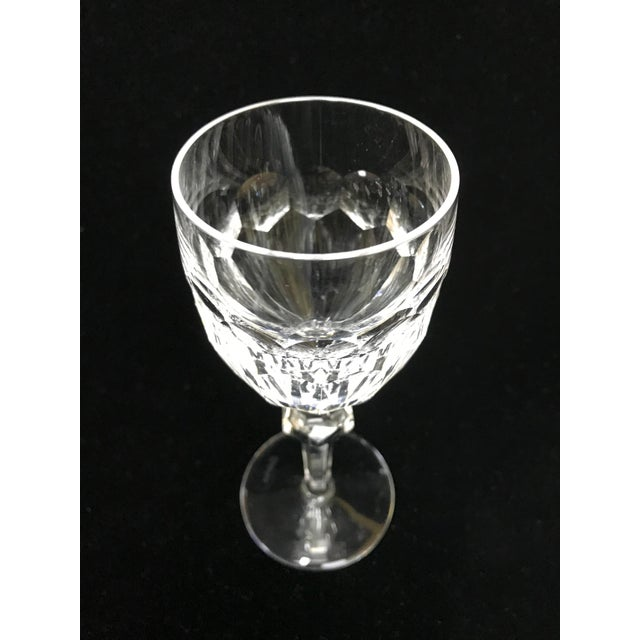 Waterford Cut Crystal Clara Waterford White Wine Glasses - Set of 6 For Sale - Image 4 of 7