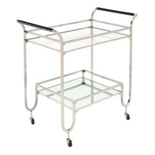 Modernist Chrome Bar Cart For Sale