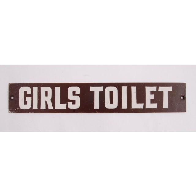 1950s Vintage Girls Toilet Sign For Sale - Image 5 of 5