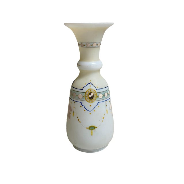 Antique French Opaline Hand Painted Vase For Sale In Dallas - Image 6 of 6