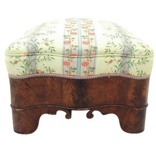 Antique Curved Wood Ogee Ottoman