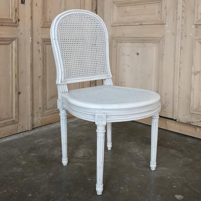 Early 20th Century Antique French Louis XVI Painted Dining Chairs-Set of 8 For Sale - Image 12 of 13