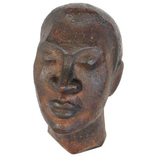1940s African Bust of Male For Sale