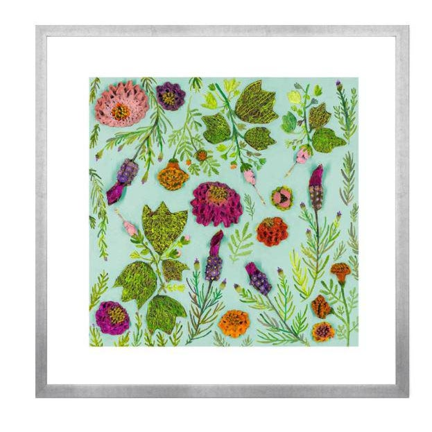 Kenneth Ludwig Chicago Wildflowers Spanish Lavender Garden Print by Eli Hilpin For Sale - Image 4 of 4