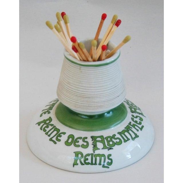 Parisian Cafe French Absinthe Porcelain Match Striker - Image 2 of 10