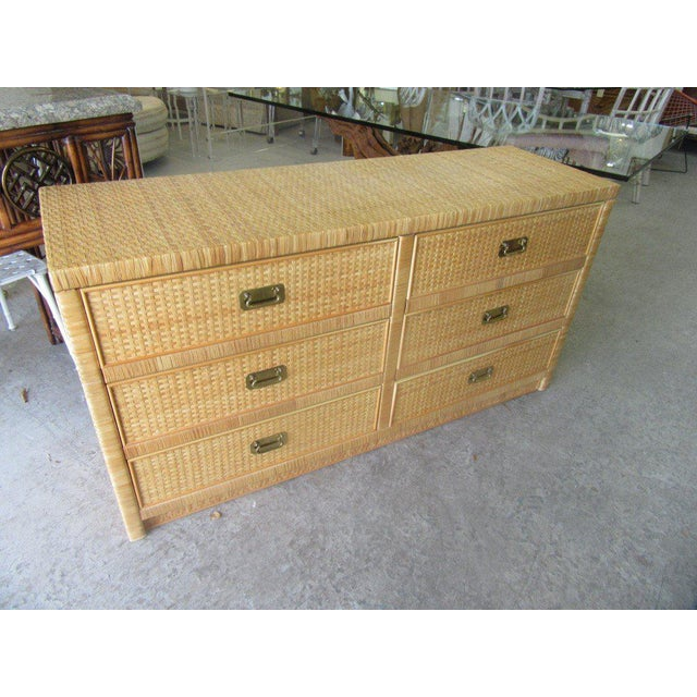 Woven Dixie Island Style Dresser - Image 6 of 9