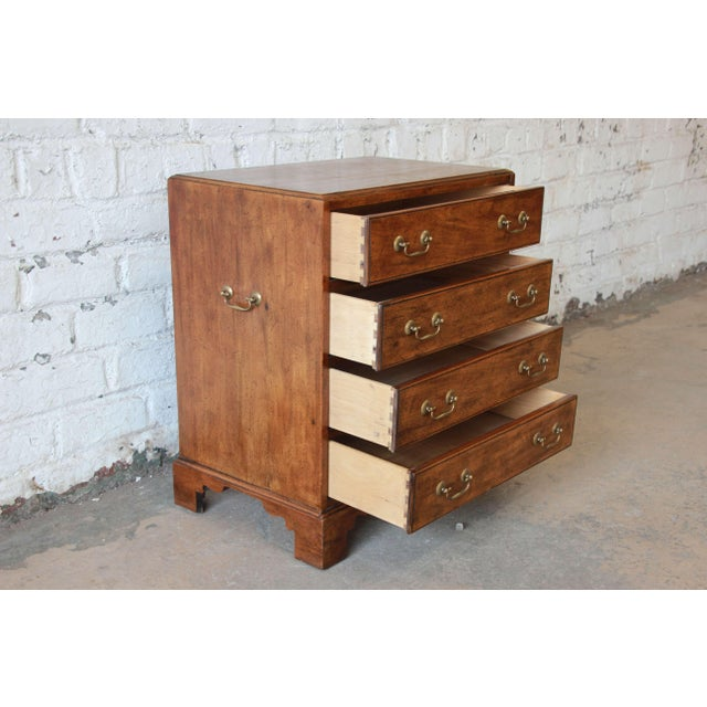 Vintage Walnut Chest by Davis Cabinet Co. For Sale - Image 5 of 9
