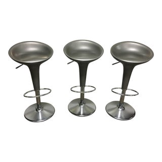 Late 20th Century Vintage Magis Bombo Stefano Giovannoni Bar Stools - Set of 3 For Sale