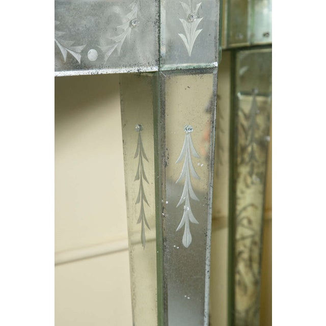 Etched Glass Mirrored Consoles - A Pair - Image 9 of 9