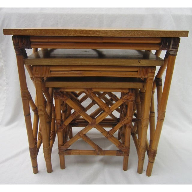 Fretwork Nesting Tables - S/3 - Image 2 of 6