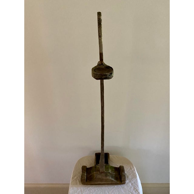 Antique Oil Lamp Stand For Sale - Image 9 of 11