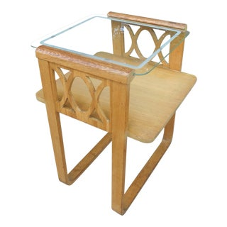 1940s Hollywood Regency Beechwood Side Table For Sale