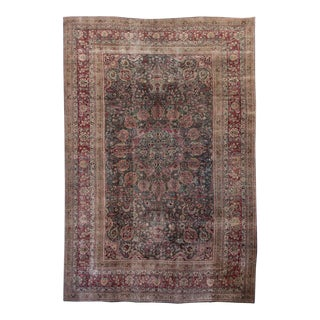 Early 20th Century 12'x17' Overdyed Wool Rug For Sale
