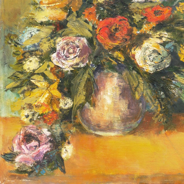 Modern 'Modernist Still-Life of Narcissus and Roses' For Sale - Image 3 of 8