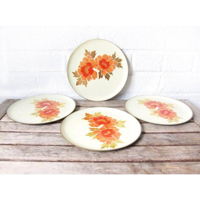 Vintage Otagiri Floral Plates- Set of 4 - Image 6 of 6