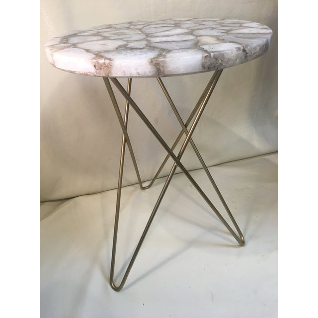 Contemporary Agate Table Top W/ Hairpin Legs For Sale - Image 3 of 8