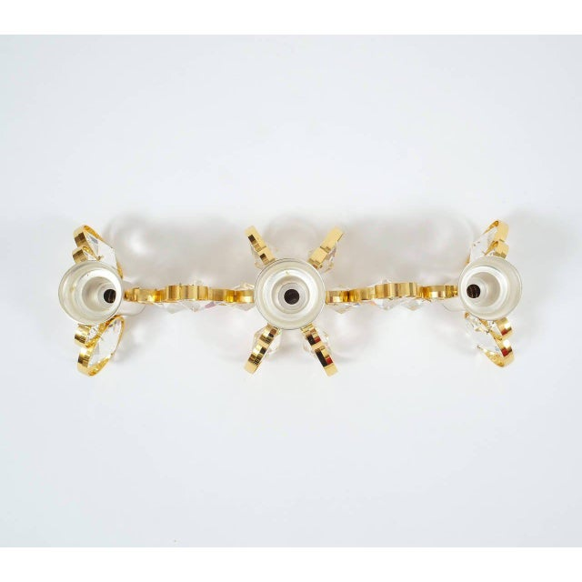 Hollywood Regency Gilt Bakalowits Candleholder for Three Candles For Sale - Image 3 of 6