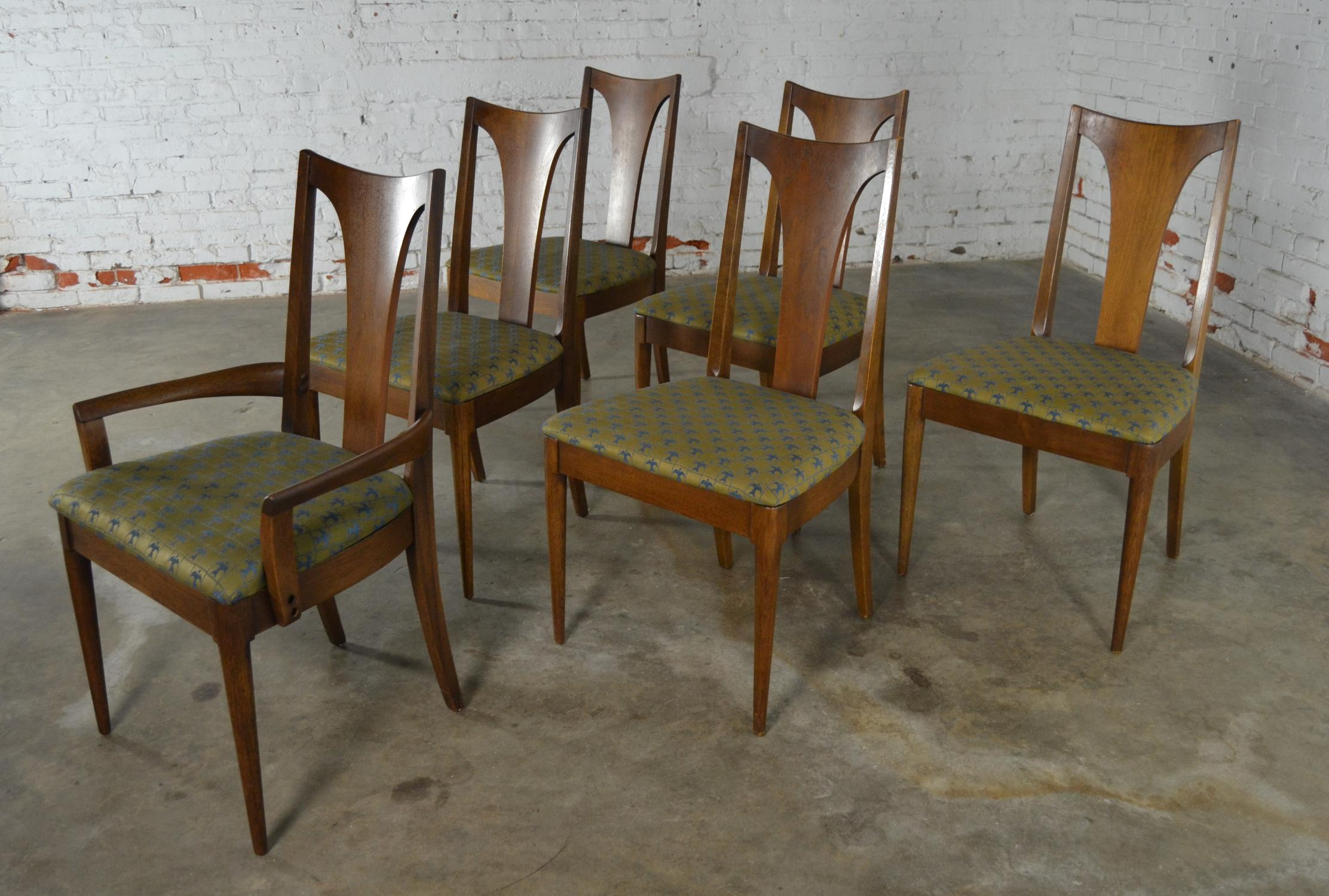 Broyhill Brasilia Mid Century Modern Broyhill Dining Chairs   Set Of 6 For  Sale