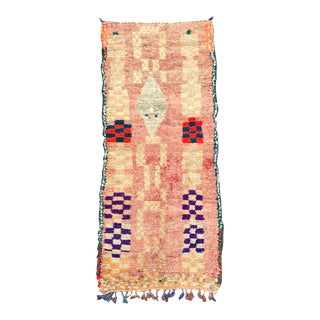 Pink Moroccan Boujaad Rug For Sale