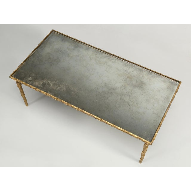 Baguès Solid Bronze Gilt Coffee Table For Sale - Image 9 of 13
