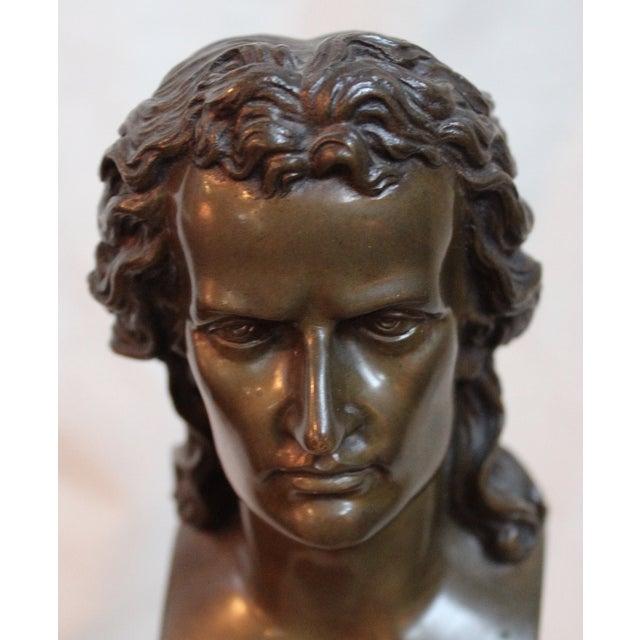 Metal Vintage Schiller Bust For Sale - Image 7 of 7