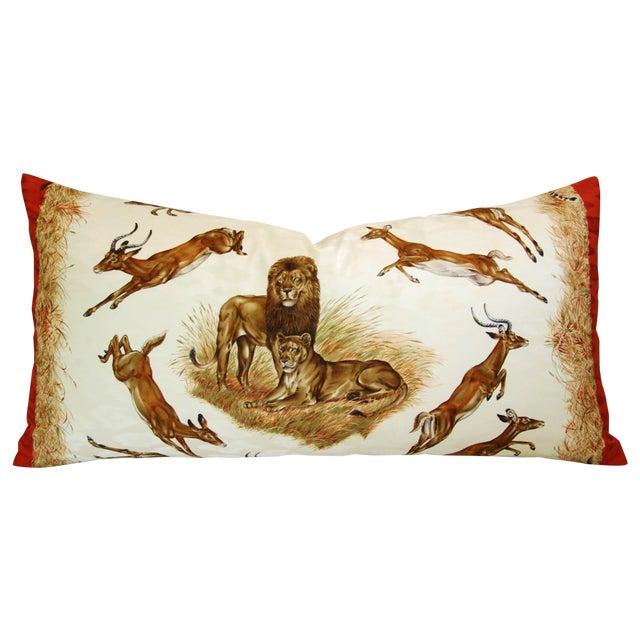 Custom Hermes Robert Dallet Safari Kenya Pillow - Image 1 of 11