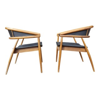 James Mont Vintage Mid-Century Lounge Chairs - A Pair For Sale