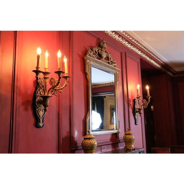 20th Century French Grand Gilt Mirror From Waldorf Astoria For Sale - Image 10 of 10