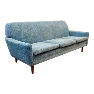 Mid Century Modern Danish Folke Ohlsson Dux 3 Seat Sofa on Walnut Base 1960s For Sale