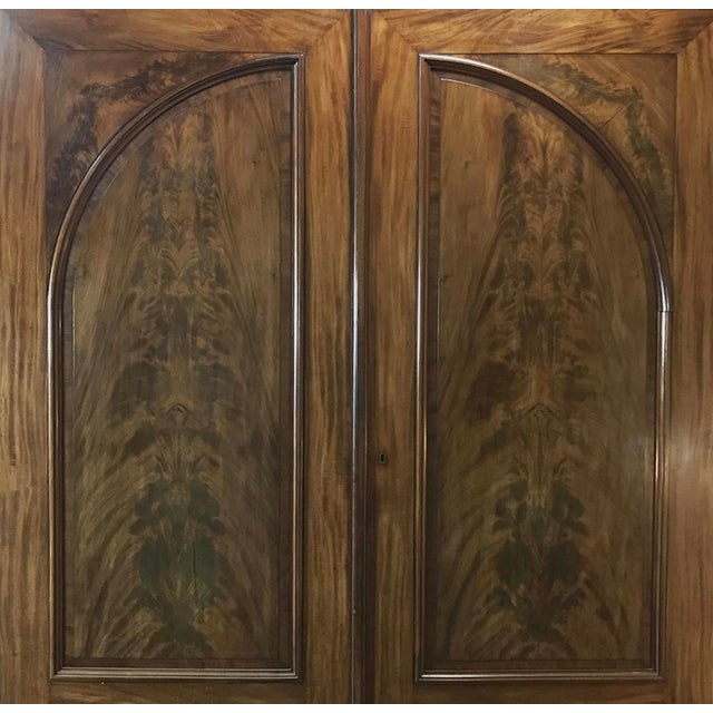 Wood 19th Century French Louis Philippe Period Burl Mahogany Armoire For Sale - Image 7 of 12