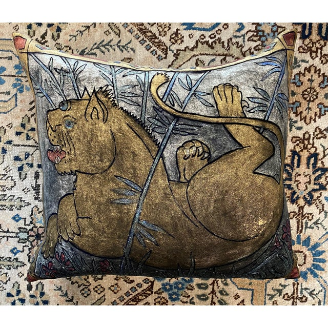 Boho Chic Lioness Pillow For Sale - Image 13 of 13
