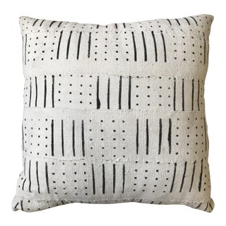 Black and White Mud Cloth Pillow For Sale