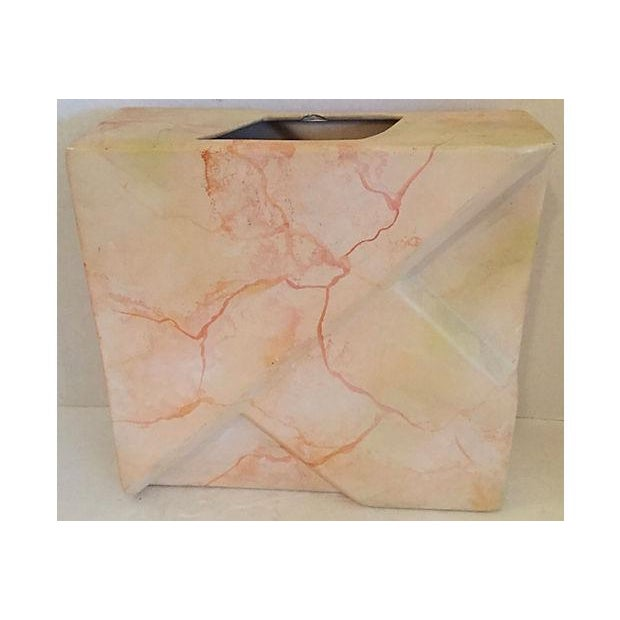 Contemporary Signed Geometric Relief Vase For Sale - Image 3 of 7