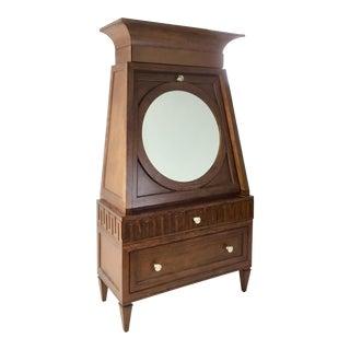 Transitional Wood French Key Secretary Desk For Sale