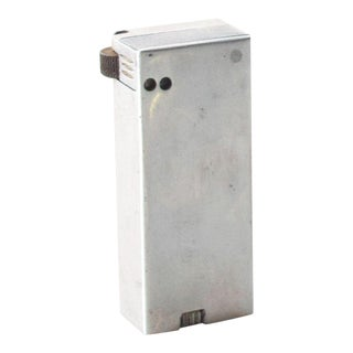 Vintage Aluminum Slim Cigarette Lighter Mid Century Modern For Sale