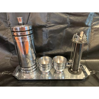 Vintage Art Deco Chase Gaiety Chrome Cocktail Shaker Set-Patented in 1933 - Set of 15 Preview