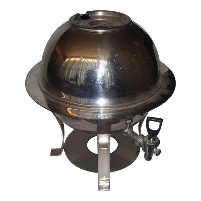 Mid-Century Stainless Steel Hot Water Samovar Dispenser For Sale In New York - Image 6 of 6
