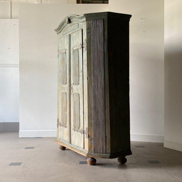 18th Century Swedish Painted Petite Herb Cabinet For Sale - Image 4 of 10