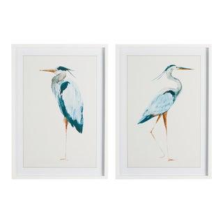 Kenneth Ludwig Chicago Blue Heron Prints, Framed - Set Of 2 For Sale