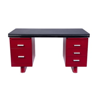 Wonderful Art Deco Metal Desk By Bauhaus For Sale