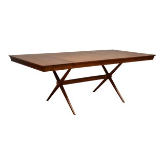 Robsjohn Gibbings Style Birch X Dining Table For Sale