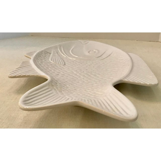 Nautical White Ceramic Fish Platter For Sale - Image 3 of 8