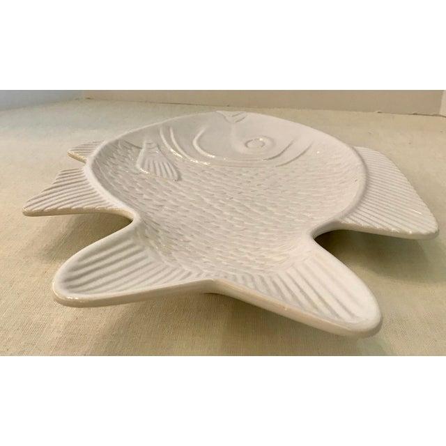 Mediterranean White Ceramic Fish Platter For Sale - Image 3 of 8
